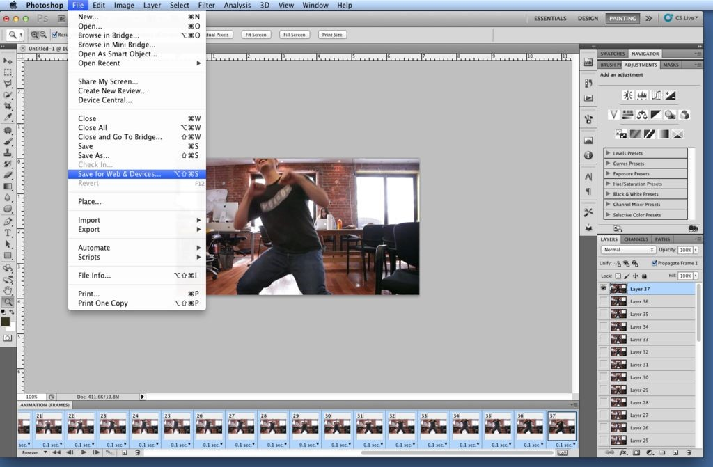 convert video into gif time rate