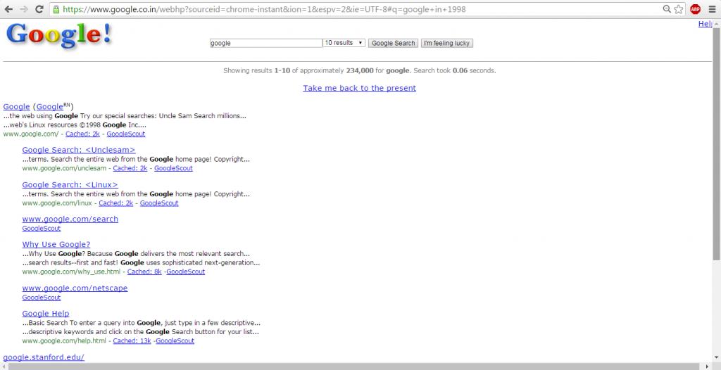 google in 1998 tips