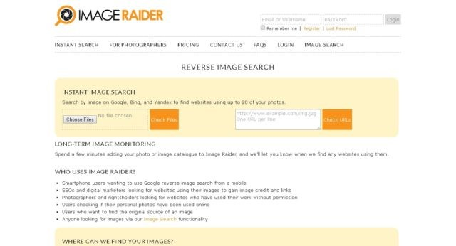 Reverse Image Search Engines 2