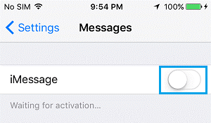 iMessage Waiting for Activation 4
