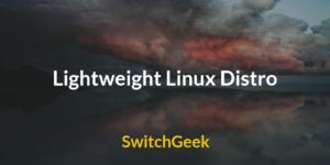 Lightweight Linux Distro